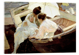 Acrylic print  After the bath in the sea - Joaquín Sorolla y Bastida