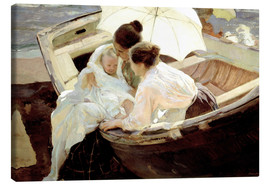 Canvas print  After the bath in the sea - Joaquín Sorolla y Bastida