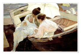 Premium poster  After the bath in the sea - Joaquin Sorolla y Bastida