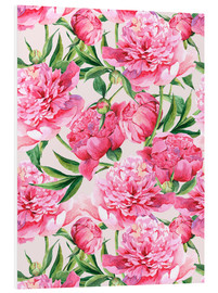Forex  Pink peonies in watercolor