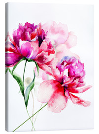 Canvas  Beautiful peony flowers