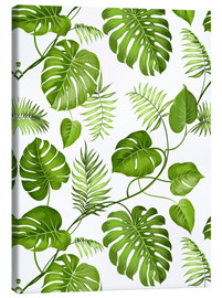 Canvas  Monstera and palms