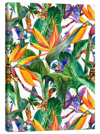 Canvas print  Tropical bouquet