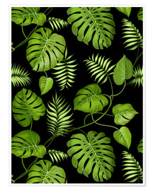 Premium poster  Monstera with palms