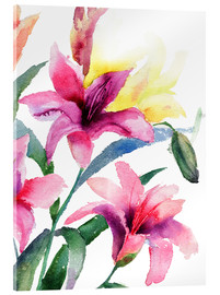 Acrylic print  Lilies in pink