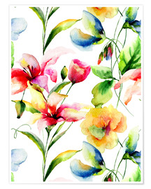 Premium poster Wildflowers in Watercolor