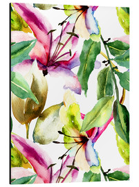 Alu-Dibond  Lily in Watercolor