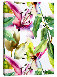 Canvas  Lily in Watercolor