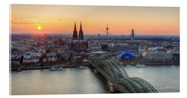 Acrylic print  Panorama view of Cologne at sunset - Michael Valjak