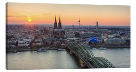 Canvas print  Panorama view of Cologne at sunset - Michael Valjak