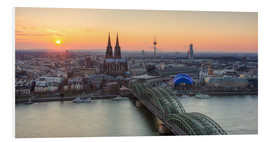 Foam board print  Panorama view of Cologne at sunset - Michael Valjak