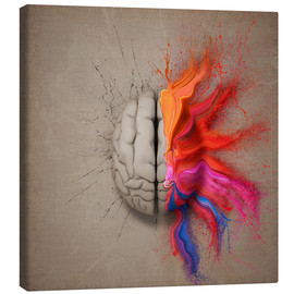 Canvas print  The creative mind - Johan Swanepoel
