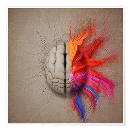 Poster  The creative mind - Johan Swanepoel