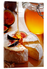 Acrylic print  Brie Cheese and Figs with honey - Johan Swanepoel