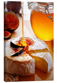 Canvas print  Brie Cheese and Figs with honey - Johan Swanepoel