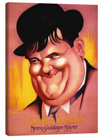 Canvas print  Oliver Hardy