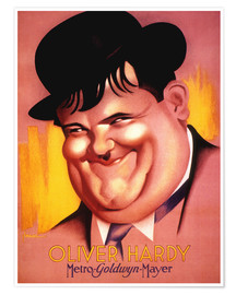 Premium poster  Oliver Hardy