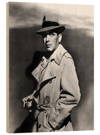 Wood print  Humphrey Bogart in Sirocco