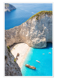 Premium poster Shipwreck beach on Zakynthos