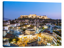 Canvas print  Acropolis and Monastiraki Square, Athens - Matteo Colombo