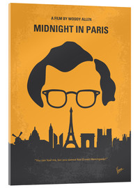 Acrylic print  No312 My Midnight in Paris minimal movie poster - chungkong