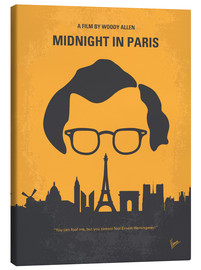Canvas  No312 My Midnight in Paris minimal movie poster - chungkong