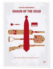 Poster  No349 My Shaun of the Dead minimal movie poster - chungkong