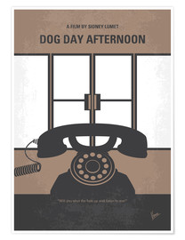 Premium poster No479 My Dog Day Afternoon minimal movie poster