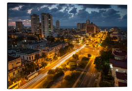 Aluminium print  View of Havana - Alex Saberi