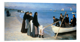 Foam board print  Departure of the fishermen, Skagen - Peder Severin Krøyer