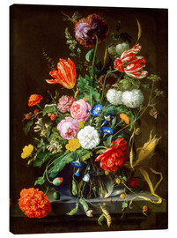 Canvas  Flowers piece - Jan Davidsz de Heem