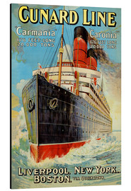 Aluminium print  Cunard Line - Liverpool, New York, Boston - Edward Wright