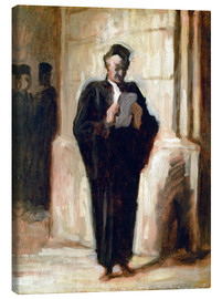 Canvas print  Reading lawyer. - Honoré Daumier
