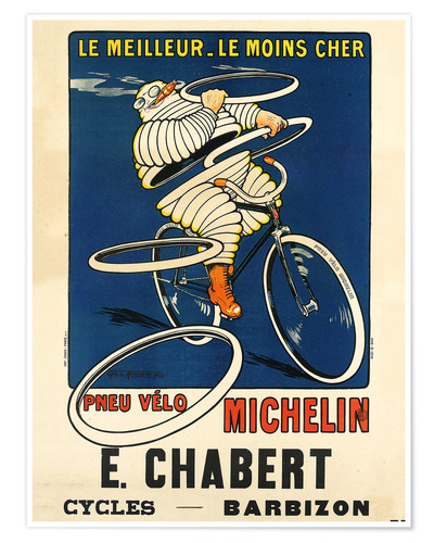 Premium poster Bicycle tires Michelin