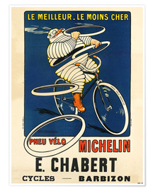 Premium poster  Bicycle tires Michelin - H.L. Roowy