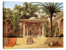 Canvas  The Kabanija Fountain in Cairo - Grigory Tchernezov