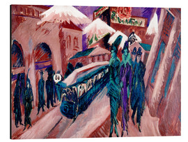 Aluminium print  Leipziger Strasse with electric train - Ernst Ludwig Kirchner