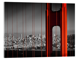 Acrylic print  Golden Gate Bridge in Detail - Melanie Viola