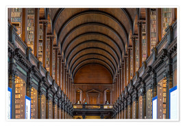 Premium poster Trinity College Library