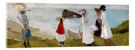 Acrylic print  Lighthouse Walk at Biarritz  - Joaquin Sorolla y Bastida