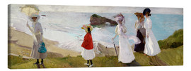 Canvas print  Lighthouse Walk at Biarritz - Joaquín Sorolla y Bastida