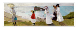 Premium poster  Lighthouse Walk at Biarritz - Joaquín Sorolla y Bastida