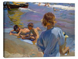 Canvas print  Children at the beach - Joaquín Sorolla y Bastida