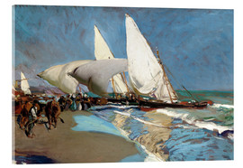 Acrylic print  The Beach at Valencia - Joaquín Sorolla y Bastida
