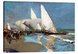 Canvas print  The Beach at Valencia - Joaquín Sorolla y Bastida