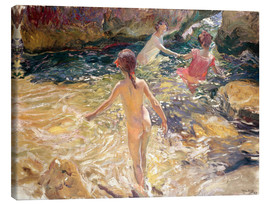Canvas print  Children Bathing - Joaquin Sorolla y Bastida