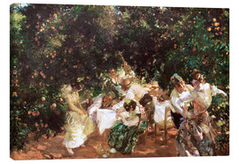 Canvas print  Under orange trees - Joaquin Sorolla y Bastida