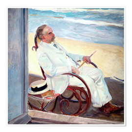 Premium poster  Antonio García at the Beach   - Joaquin Sorolla y Bastida