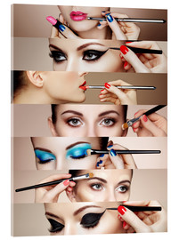 Acrylic print  Make-up Routine II