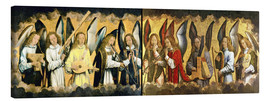 Canvas print  Christ with angels - Hans Memling
